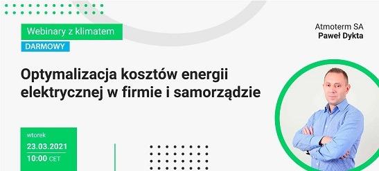 webinar o optymalizacji kosztów energii elektrycznej w firmie i samorządzie